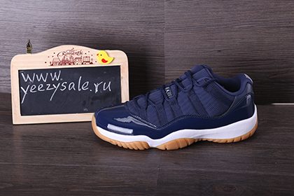 Authentic Air Jordan 11 Low Navy Gum Color Blue White On Yeezysale