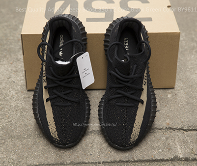 Best Quality Yeezy Boost 350 V2 Core Black Green Color BY9611