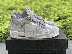 KAWS x Air Jordan 4 Cool Grey For Sale