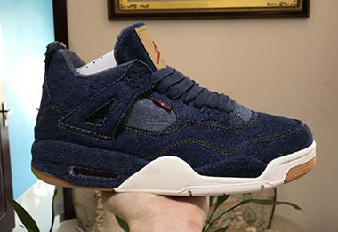 Levis x Air Jordan 4 AJ4 Black White AO2571-401 For Sale