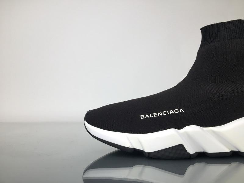 Balenciaga Speed Runner High Top Sneaker White Black