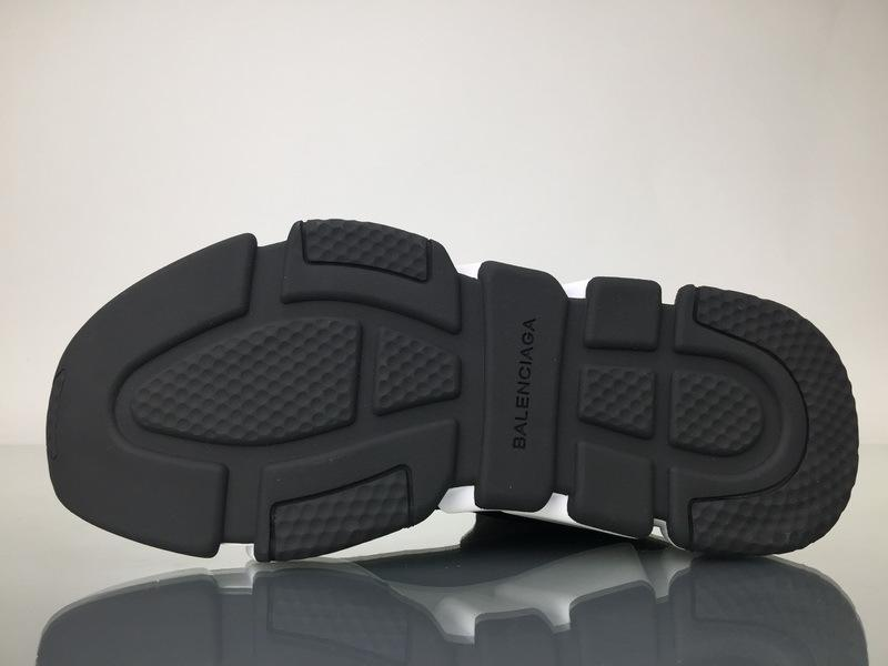 Balenciaga Speed Runner High Top Sneaker White Black