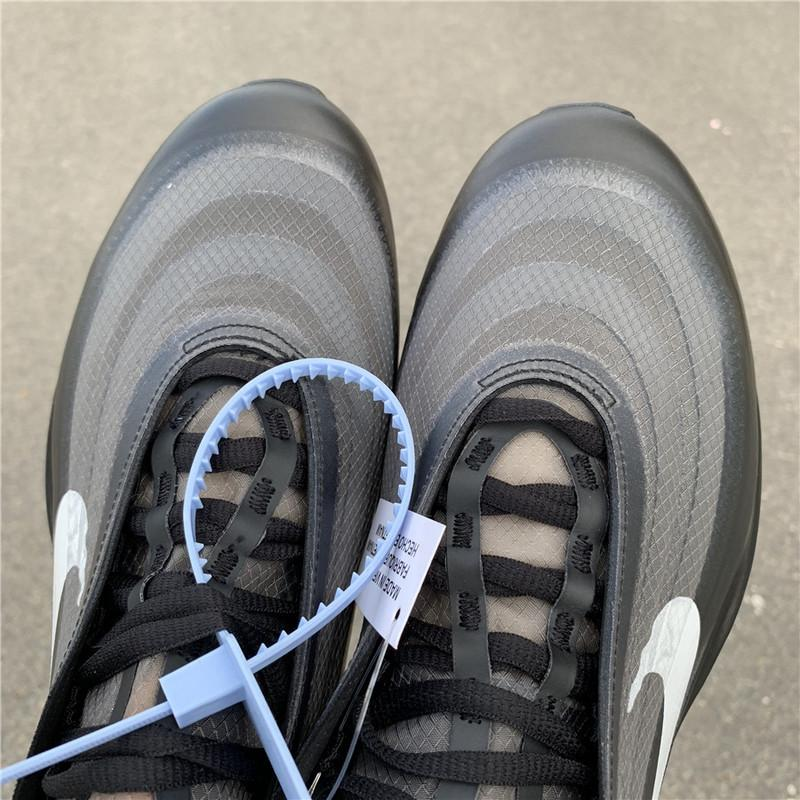 Perfect Off-White Nike Air Max 97 Black Released