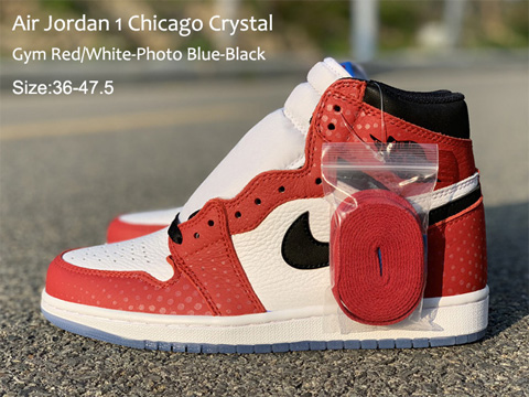 Air Jordan 1 Retro High OG Chicago Crystal Perfect Quality Version