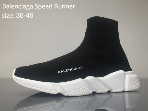 Balenciaga Speed Runner Black White Online Sale