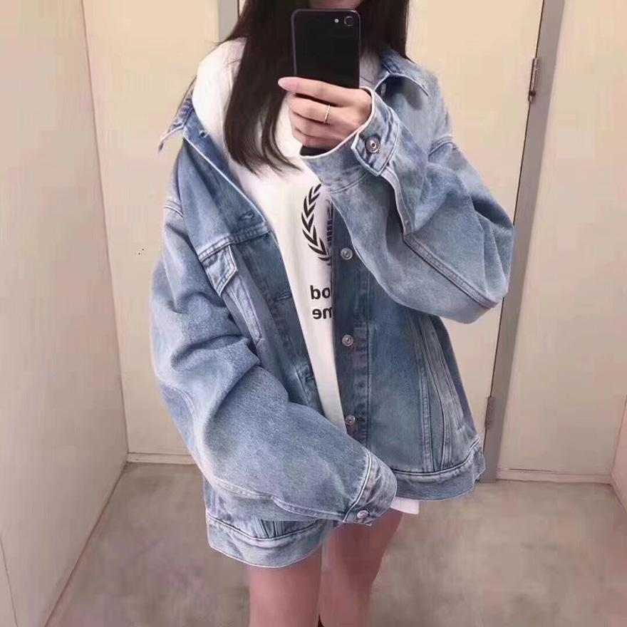 BLCG 18S Embroidery Denim Caban Jacket For Sale
