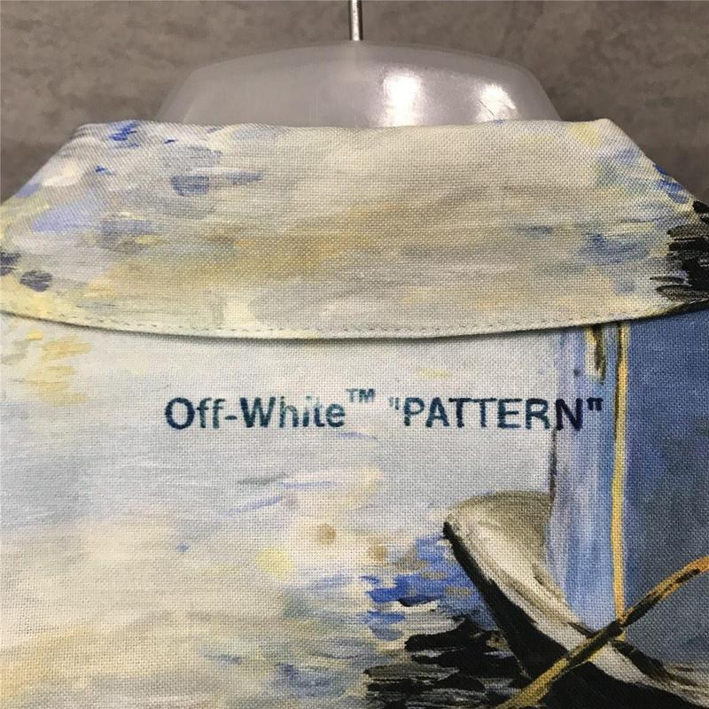 Off White 19ss Oil Painting Shirt OW High Quality Released