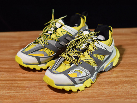 Balenciaga Exclusive Paris Track Sneakers Yellow Best Quality Version