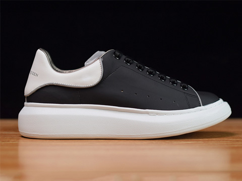 Fashion Shoe Black White 3M Reflective 1006