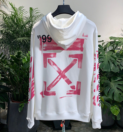 Off White 19SS Diag Stencil Hoodie Hooded Sweatshirt High Quality