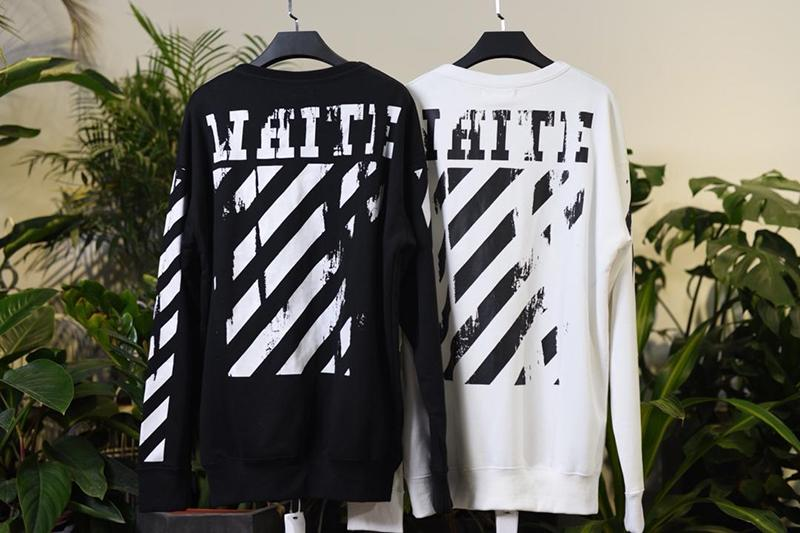 Off White 15SS Black White Religion Print Sweatshirt Released