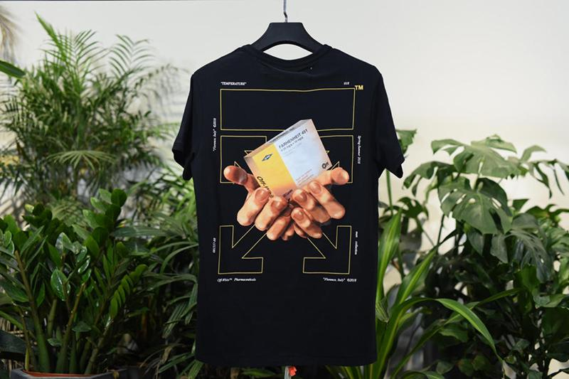 Off White 18SS Black Medicine Tee Shirt Released