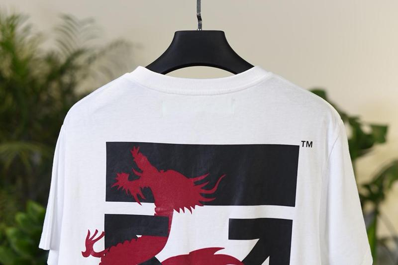Off-White 19SS Dragon Print White Macao Arrow T-shirt Released