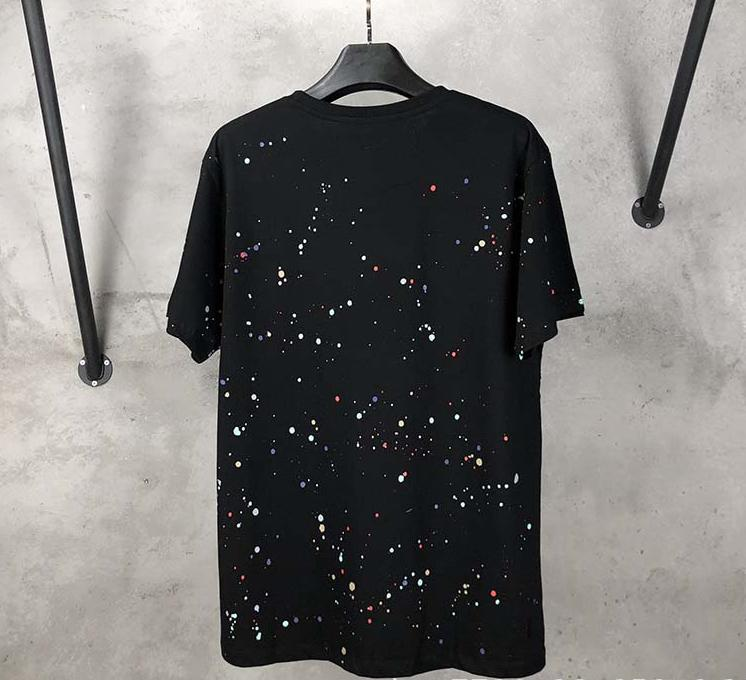 Off White 19SS Paint-Splattered Cotton-Jersey T-Shirt Released MA
