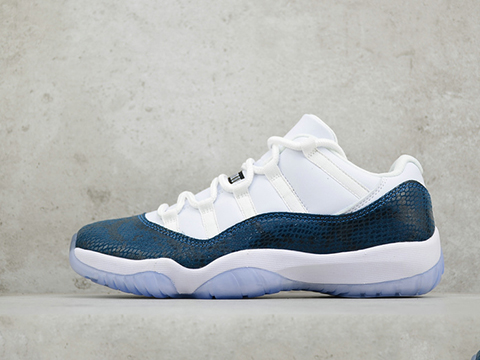 Air Jordan 11 Low Navy Blue Snakeskin Released