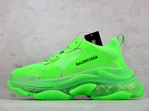 Balenciaga 19SS Triple S Clear Sole Trainers Green Perfect Version