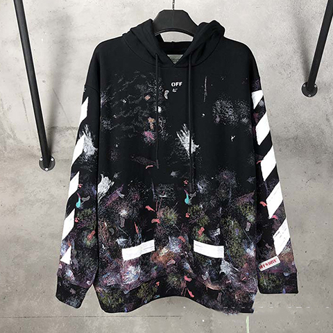 Off White 17FW Galaxy Fireworks Hoodie CD Released