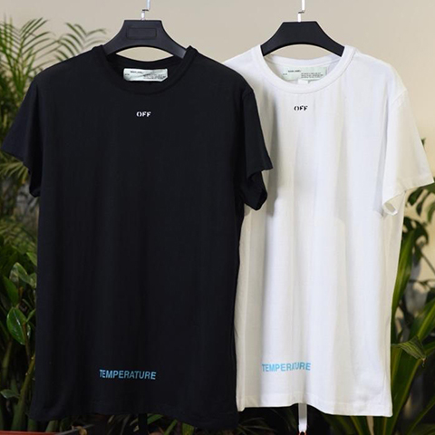 Off White 18SS Black And White Color Temperature Tee Shirt Released