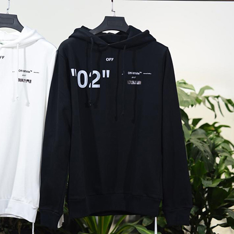 Off White 18SS Black For All  02 Hoodie Sweatshirts Released