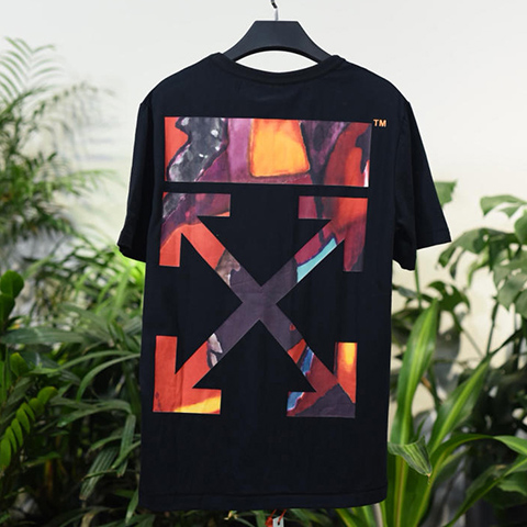 Off White 18SS Black HongKong Limited Arrows Tshirt Released