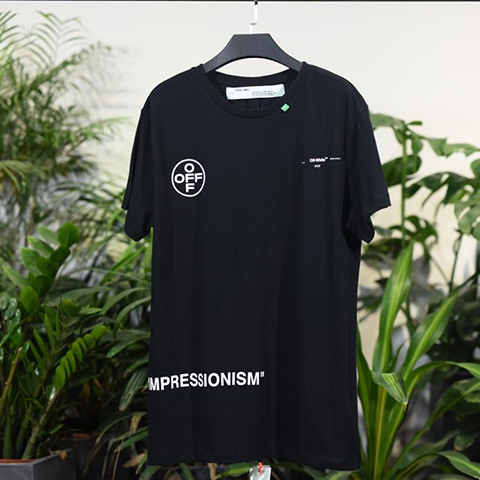 Off-White 19SS Black 99 Logo Print Tee Shirt Released