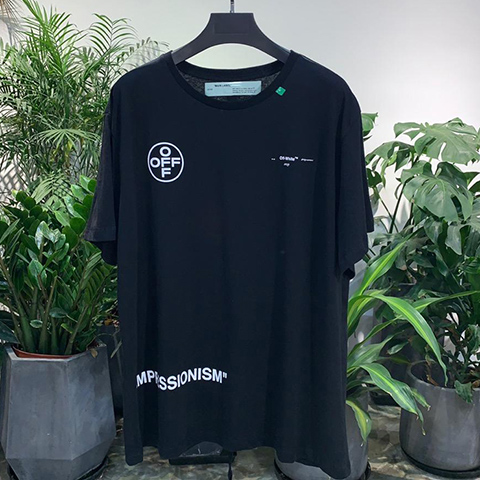 Off-White 19SS Oversize Black Impressionism Print T-shirt Released