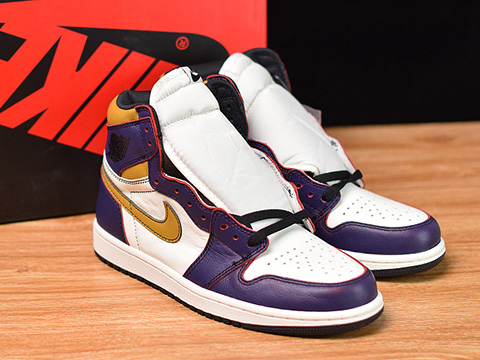 SB x Air Jordan 1 Retro High OG Lakers LA to Chicago Perfect Version