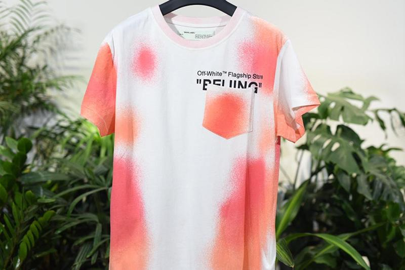 Off-White 18SS Logo Print Bei Jing Tee Shirt For Sale