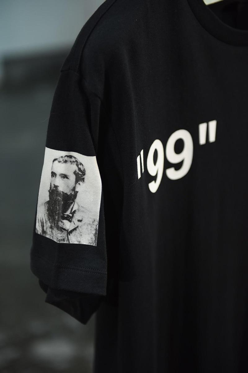 Off-White 19SS Black 99 Logo Print Monet Cruise Tee Shirt Released