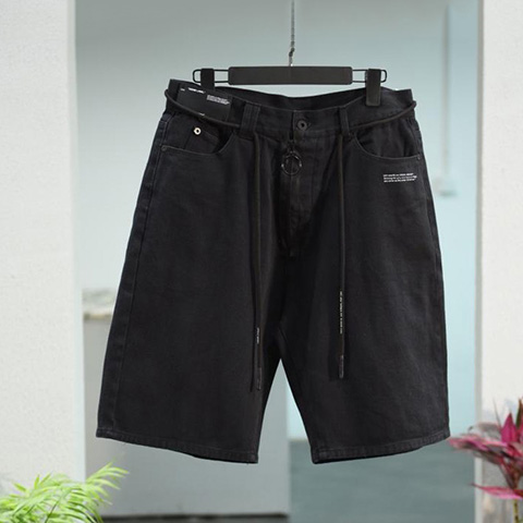 Off White 19SS Black Short Pants Oversize Released
