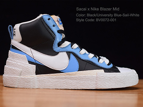 Sacai X Blazer with Dunk Mid Perfect Released