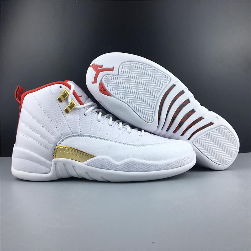 Air Jordan 12 FIBA White University Red Online Sale