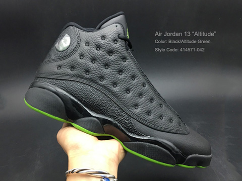 Air Jordan 13 Altitude Black Altitude Green Released