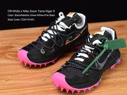 Off-White x Zoom Terra Kiger 5 Black Pink On Sale