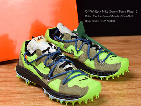 Off-White x Zoom Terra Kiger 5 Electric Green On Sale