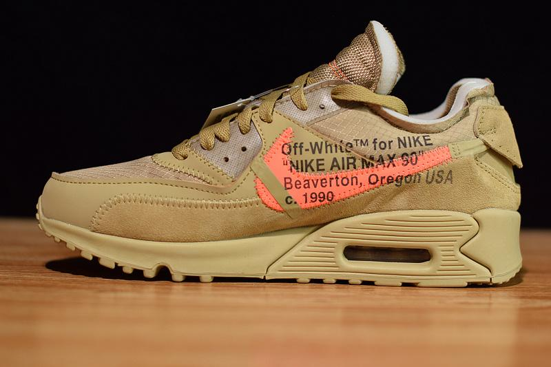 Off-White Nike Air Max 90 Desert Ore Released Sale Online AA7293-200