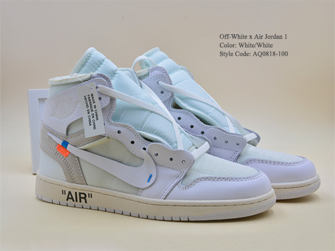 Off-White Air Jordan 1 White Color AQ0818-100 Released