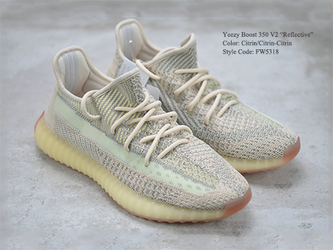 Yeezy Boost 350 V2 Citrin Reflective High Quality Version