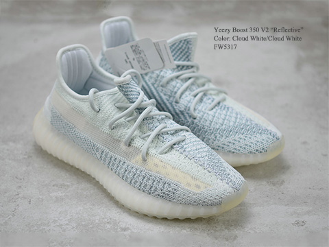 Yeezy Boost 350 V2 Cloud White Reflective High Quality Version