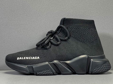 Balenciaga Speed Run stretch-knit Mid sneakers Black Released Sale
