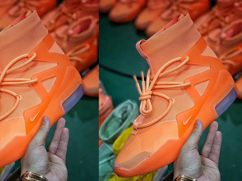 Air Fear of God 1 Orange Perfect Version Released Sale