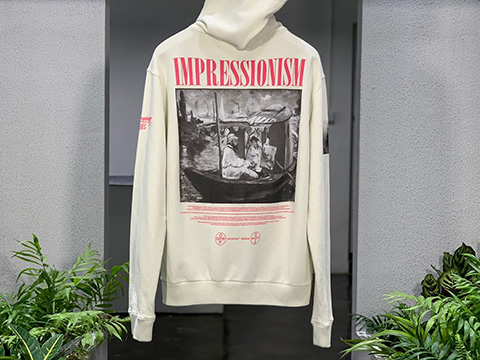 Off-White 19SS Monet Cruise Ship Zipper Hoodie