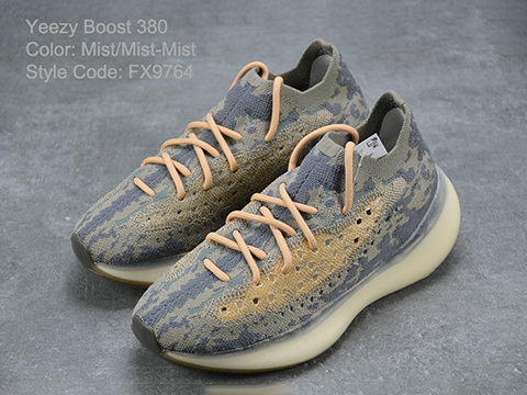 Yeezy Boost 380 Mist FX9764 High Quality Version Released